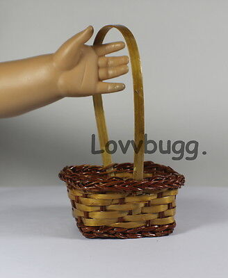 Egg Gathering or Picnic Basket 14 inch Wellie Wishers  to 18 inch American Girl Doll Food Accessory