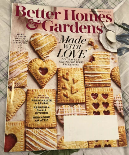 BETTER HOMES AND GARDENS Mag FEB 2019 DIY Crafts Treats For Your VALENTINES  - $2.00