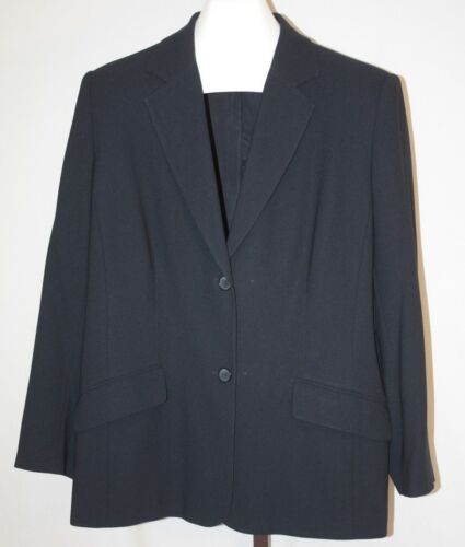 Nygard Womens Ladies Navy Blue 2 Button Suit Jacket Size 16