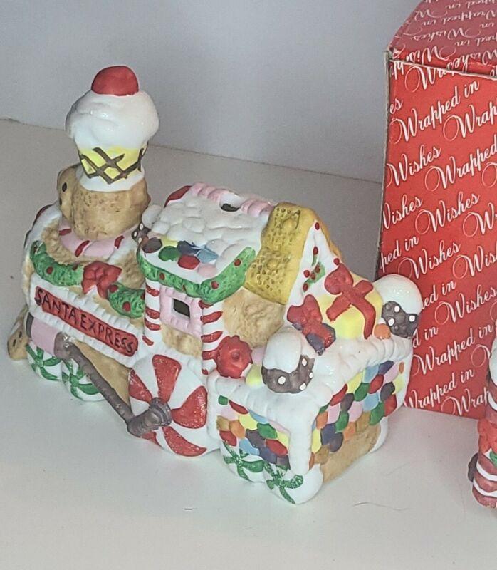 Broadway Stores Inc Gingerbread Train Tea Light Holder Christmas Decor