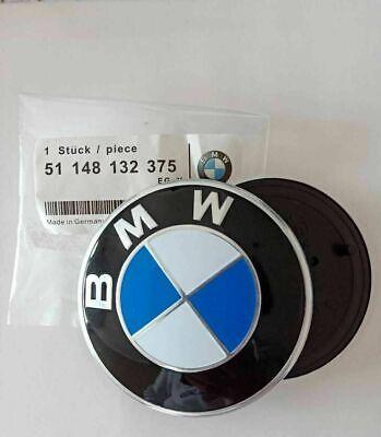 BMW Front Badge Bonnet Boot Emblem 82MM OEM E46 E90 E91 E92 M3 X5 Z3 UK Stock