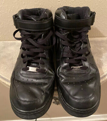 Nike Air Force 1 Mid '07 Triple Black 315123-001 Men's Size 14