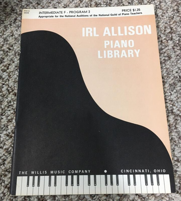 Irl Allison Piano Library Intermediate F Program 2 WMCO 9559