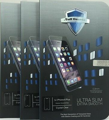 Lots of 3 Best New Premium Tempered Glass Screen Protector iPhone 6 Plus