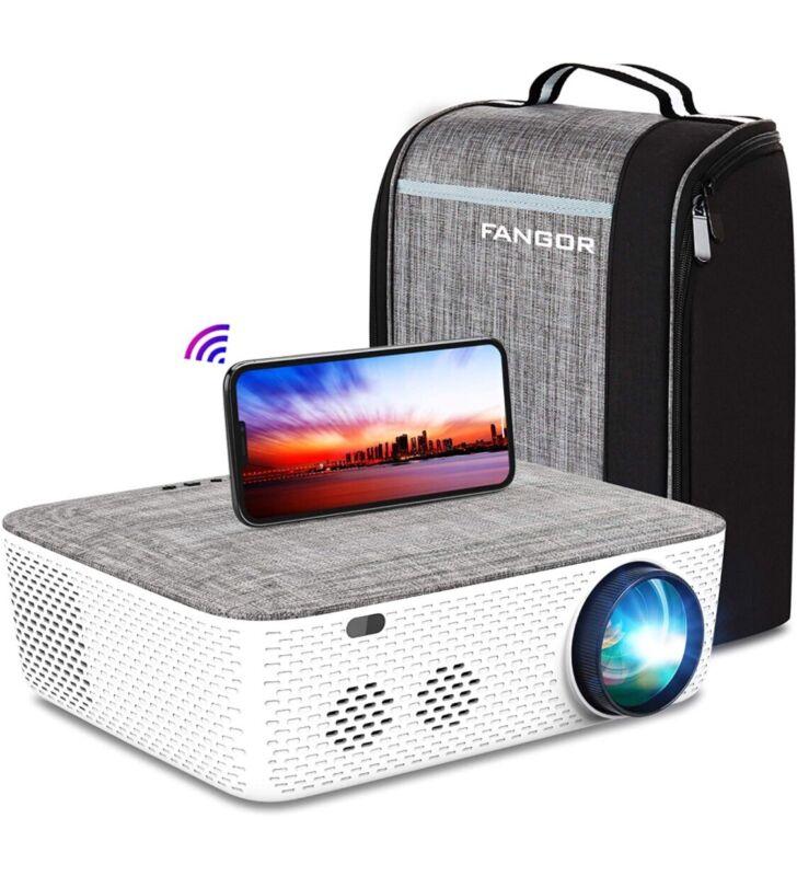 🎥 FANGOR F-701 Premium WiFi Projector Native 1080P Projector + Carrying Case