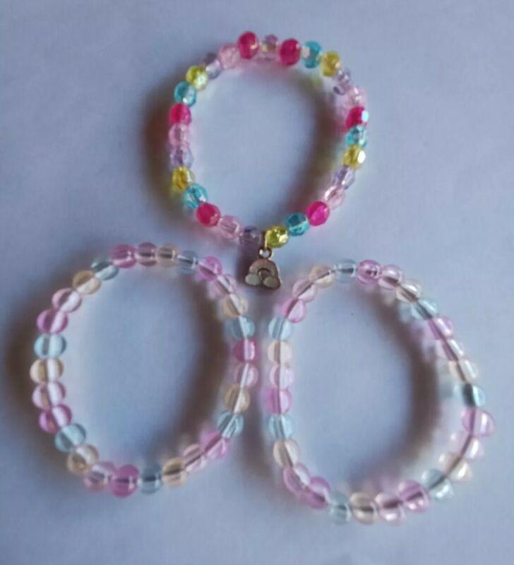 Three Kids Beaded Bracelet Lot