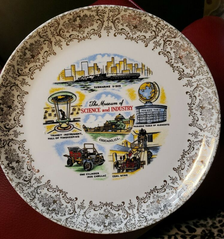 Vintage MUSEUM of SCIENCE and INDUSTRY Plate Chicago Submarine U 505 - 1905 Cady