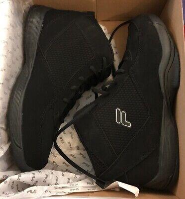 b53ce4d53860 FILA Men s Sweeper 5 Basketball Shoes BLACK USA Size 9.5 NEW BOX High Top  shoe