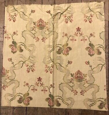 18 X 17 Stroheim & Romann Lisere 100% Viscose Fabric Sample Made in -