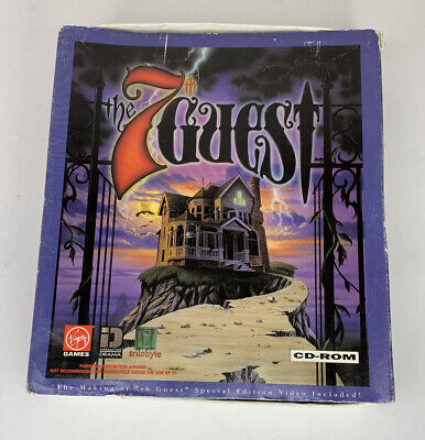 The 7th Guest PC 1992 CD-ROM Game Complete in Box with Special Edition VHS Movie