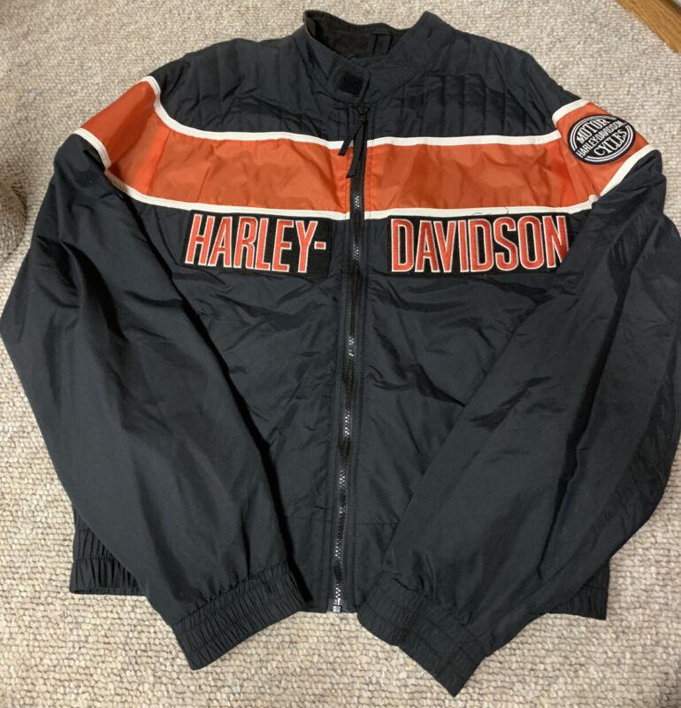 Harley Davidson Motorcycle Black/Orange Jacket XL
