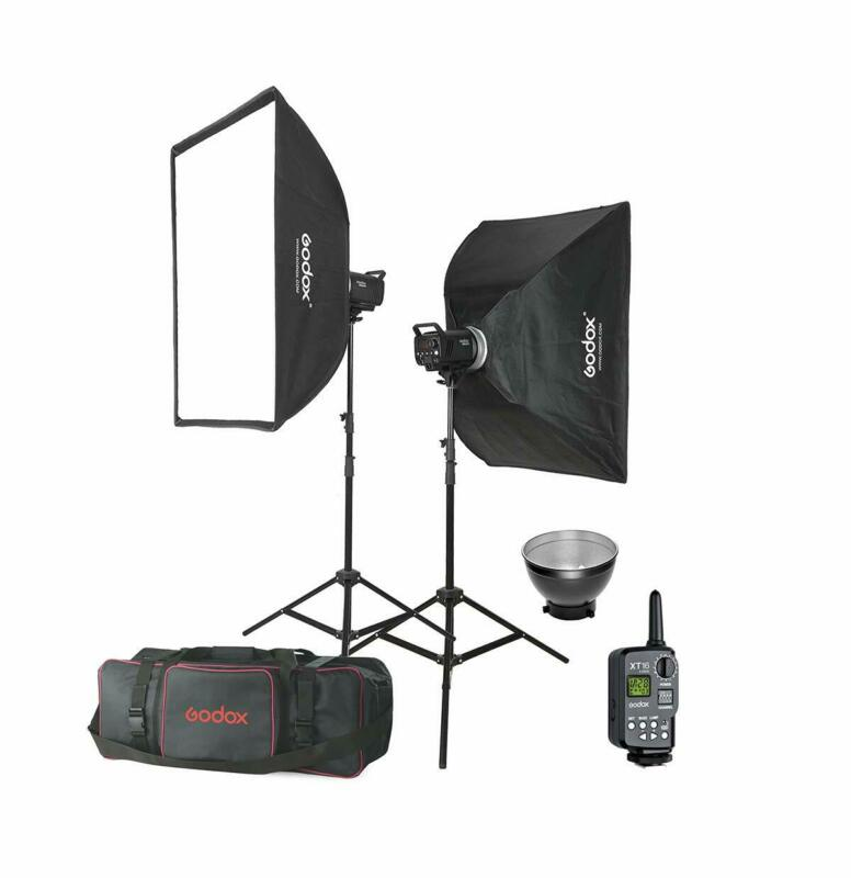 GODOX 600W Flash Kit 2* MS300 Monolight Lighting+ Stand+ SoftBox+ Transmitter