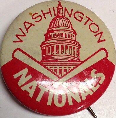 1950s Vintage Washington Nationals American Nut  Baseball 1 Inch Pin Pinback