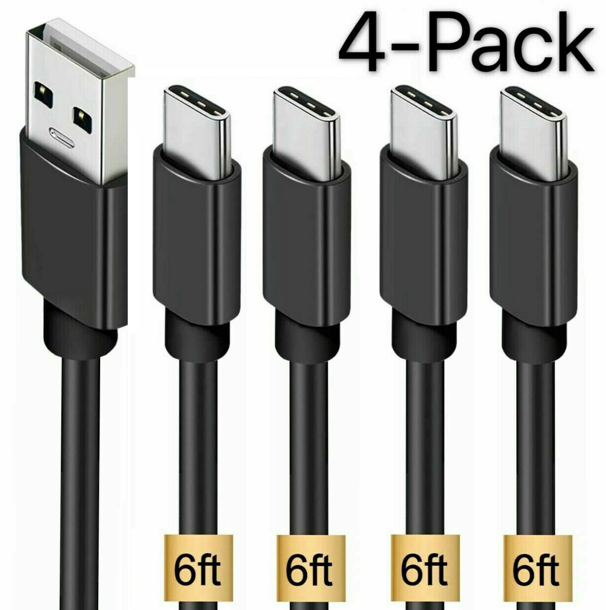 4 Pack OEM  Samsung USB C Cable Type C Fast Charger For Galaxy S8 S9 S10 Plus Cables & Adapters