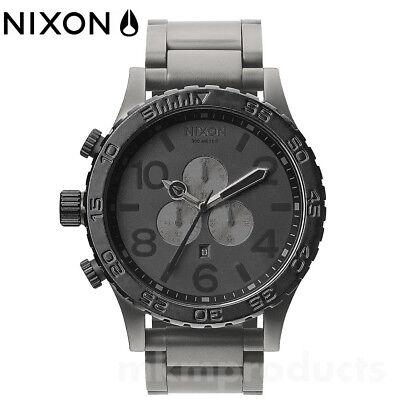 New NIXON 51-30 CHRONO MATTE BLACK GUNMETAL A083-1062 A0831062