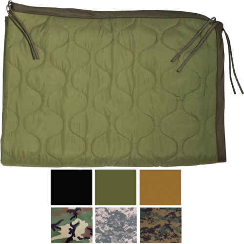 """Poncho Liner Woobie Ripstop Blanket Tactical Military Army Camo 62"""" x 82"""""""