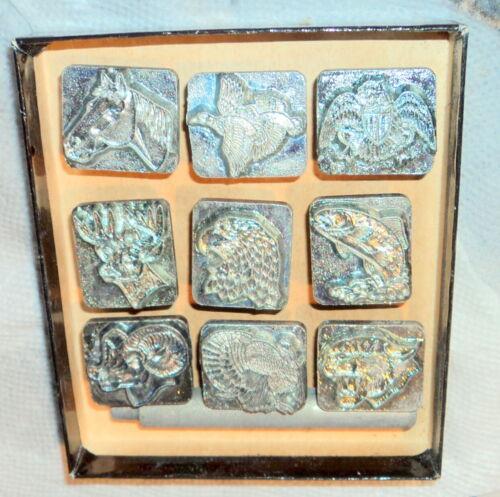 Vintage Craftool Co. Stamp Set Lot Of 9 Animals