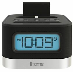 iHome iPL8 Stereo FM Clock Radio Alarm Lightning Dock 4 iPhone 5/5S 6/6s 7/7s