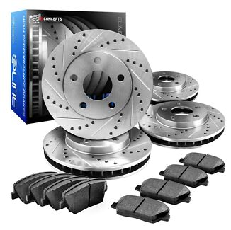 WRX Slotted & Drilled Brake Rotors and Ceramic Pads