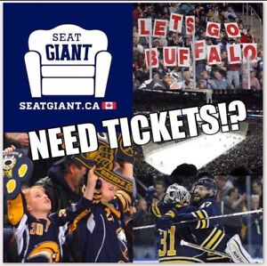 BUFFALO SABRES TICKETS FROM $14 CAD!!!