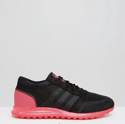 Adidas Los Angeles Black & Pink Trainers Perfect Condition Size 8 WORN ONCE
