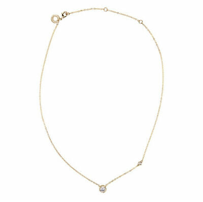 CZ By Kenneth Jay Lane Round Bezel Gold Tone Necklace New!! $59 Retail!!