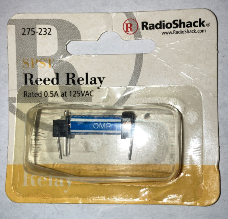 RadioShack 275-232 SPST Reed Relay ~ Coil: 5VDC ~ Contacts: 0.5A at 125VAC