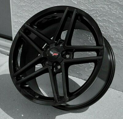 Gloss Black C6 Z06 Style Corvette Wheels for 2005-2013 C6  & 1997-2004 C5 18/19