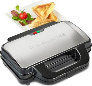 Andrew James Sandwich Toaster Deep Fill Non Stick Plates