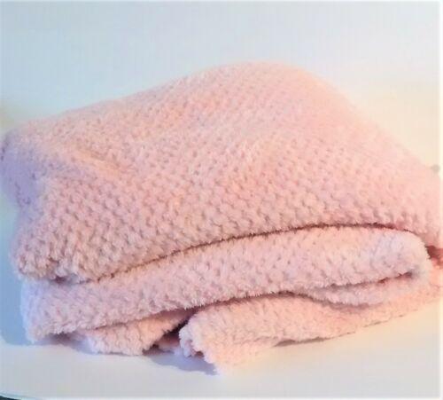 "Pink Minky Plush Fleece Fabric 58""L x 64""W"