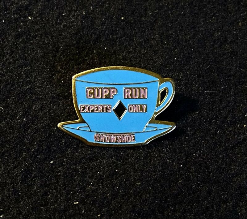 SNOWSHOE CUPP RUN EXPERTS ONLY Skiing Ski Pin WEST VIRGINIA Souvenir Travel