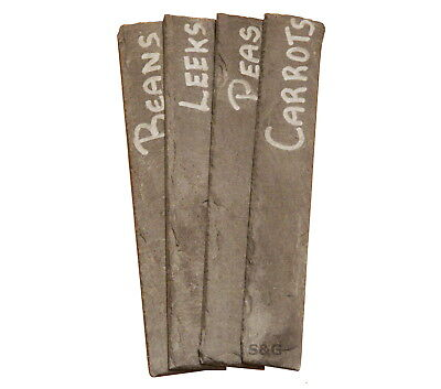 100 Long Natural Slate Garden Plant Markers Label Tags Stakes Herb Vegetables