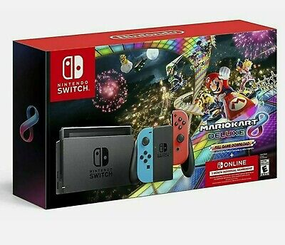 Brand New - Nintendo Switch Console Mario Kart 8 Deluxe Bundle FREE SHIP