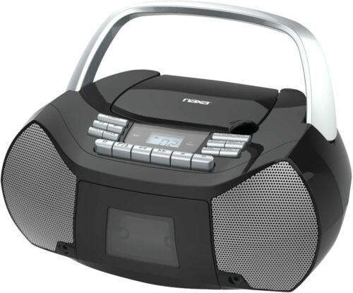 NAXA Electronics NPB-268 Portable CD/Cassette Boombox AM/FM Radio Player NEW!!!
