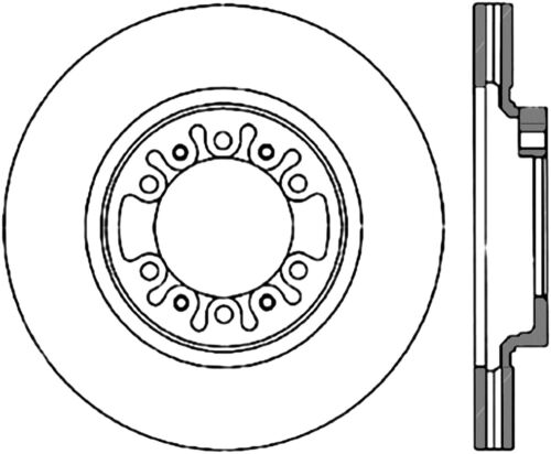 Disc Brake Rotor C Tek Standard Centric Fits 97 04 Mitsubishi