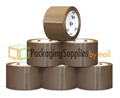 36 Brown Tape Rolls Packing Sealing Carton Box Shipping Packaging 110y 2 1.8mil