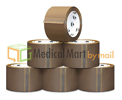 Browntan Packaging Tape - 2 X 110 Yards 330 Feet Choose Your Mil Rolls