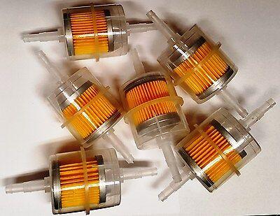 "6X 5/16""-1/4"" Inline fuel filter. Clear plastic (Lot of 6 Pcs )"