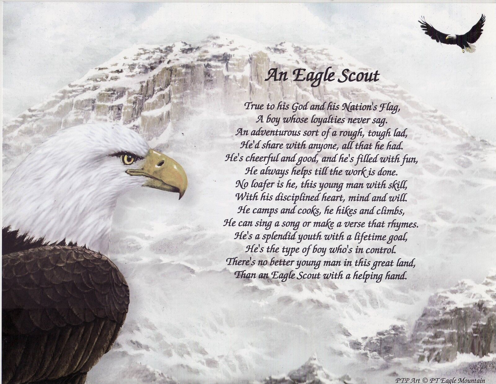 eagle scout boy scout girl scout poem prayer personalized