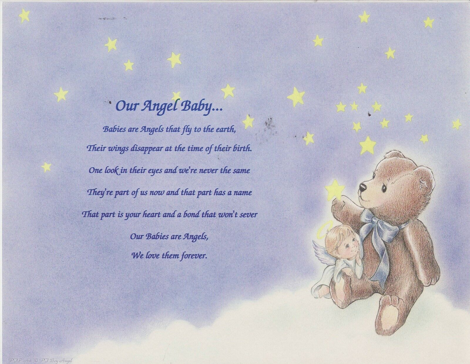 Baby Boy Or Baby Girl Poem Personalized Name Prayer