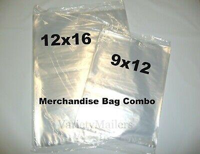 200 Clear Poly T-shirt 9x12 12x16 1 Mil Apparel Plastic Bags
