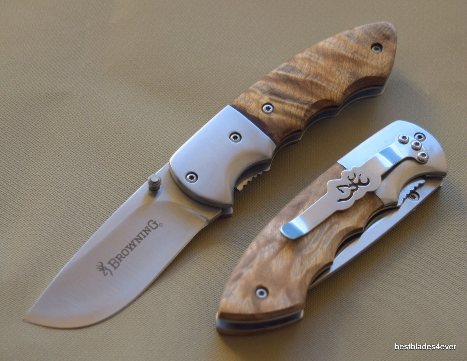 BROWNING WHITETAIL LINERLOCK FOLDING KNIFE WITH POCKET CLIP