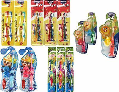 10 X 1 Bürste (1 - 10 x (Stück) Kinderzahnbürste Zahnbürste Kinder Kids Saugnapf 5 Modelle)