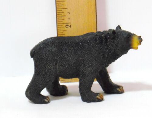 BLACK BEAR FIGURINE SMALL RESIN PLASTIC