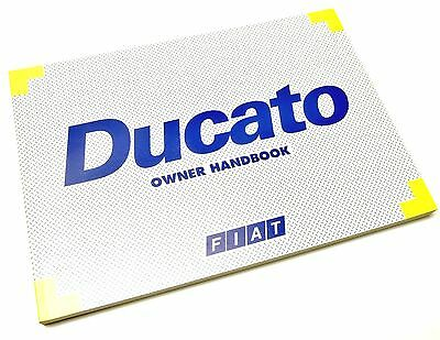 Fiat Ducato 1994-2002 Vans & Motor Home Owners Hand Book manual 60345274 NEW