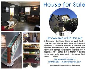 3 bedroom house for sale or rent