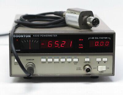 Boonton Electronics 4220 Power Meter 51075 Sensor Cable 18ghz -70dbm To 20dbm