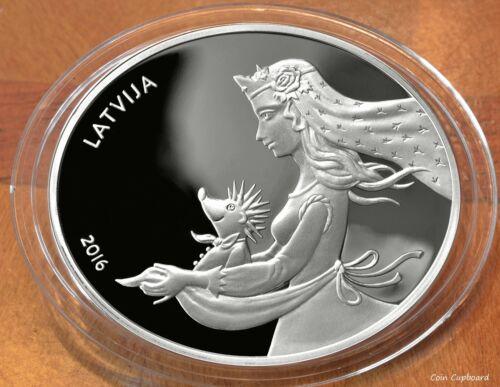 """2016 - Latvia 5 € - 1oz silver - """"Hedgehog"""