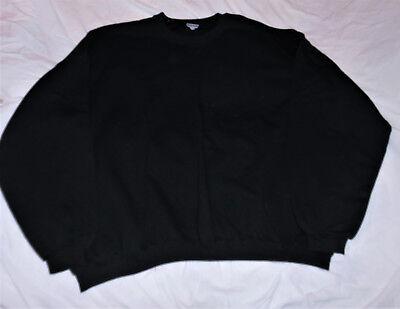 JERZEES BIG MAN 4XL 58/60 COAL BLACK 50/50 COTTON FLEECE SWEATSHIRT TOP WARM  -