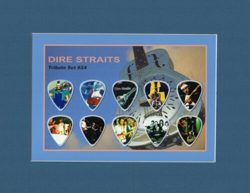 Dire Straits Matted Picture Guitar Pick Set Sultans Of Swing Money For Nothing